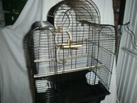Bird Cage in Black - suitable for two budgies or one larger bird.