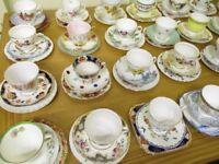 Vintage Tea Sets - 30 x trios, cup, saucer, teaplate, 5 sugar bowls, 5 milk jugs