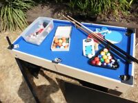 Pot Black multi games pool table - snooker - ping pong -football - draughts - chess and more