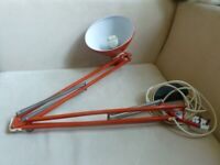 Vintage working bright red architects desk anglepoise table lamp 1960s 1001 Lamps