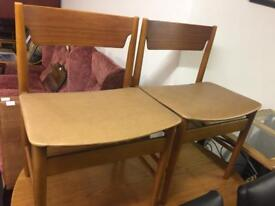 2 teak retro chairs