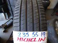 MATCHING 235 55 19 MICHELINS 6-7MM TREAD £ 45 EACH SUP & FITD LOADS MORE AV TXT SIZE FOR PR & AV