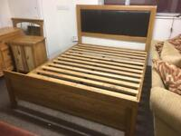 Solid oak kingsize bed * free furniture delivery *