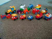15 toddler vehicles/cars