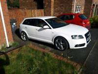 2010 Audi a3 s line special edition in ibis white and full service history