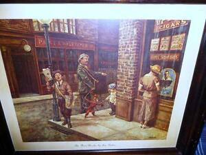 "Vintage, Victorian Street Scene by Lee Dubin ""The News Hawker"" Stratford Kitchener Area image 1"