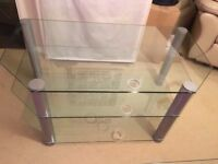 Large Glass TV Stand Table