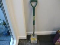 STAINLESS STEEL GARDEN SPADE - NEW- IN WRAPPER YEOMANS