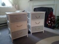 BEDSIDE CABINETS X 2 GOOD CONDITION
