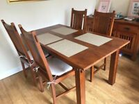 Solid Wood Dining Table with Chairs
