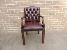 Unique Medium Ox Blood Desk Chair Chesterfield (UK Delivery)