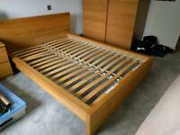 Ikea Malm Double Bed Frame (Headboard Broken)