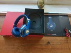 Beats by Dr Dre headphones studio 2.0 blue wired