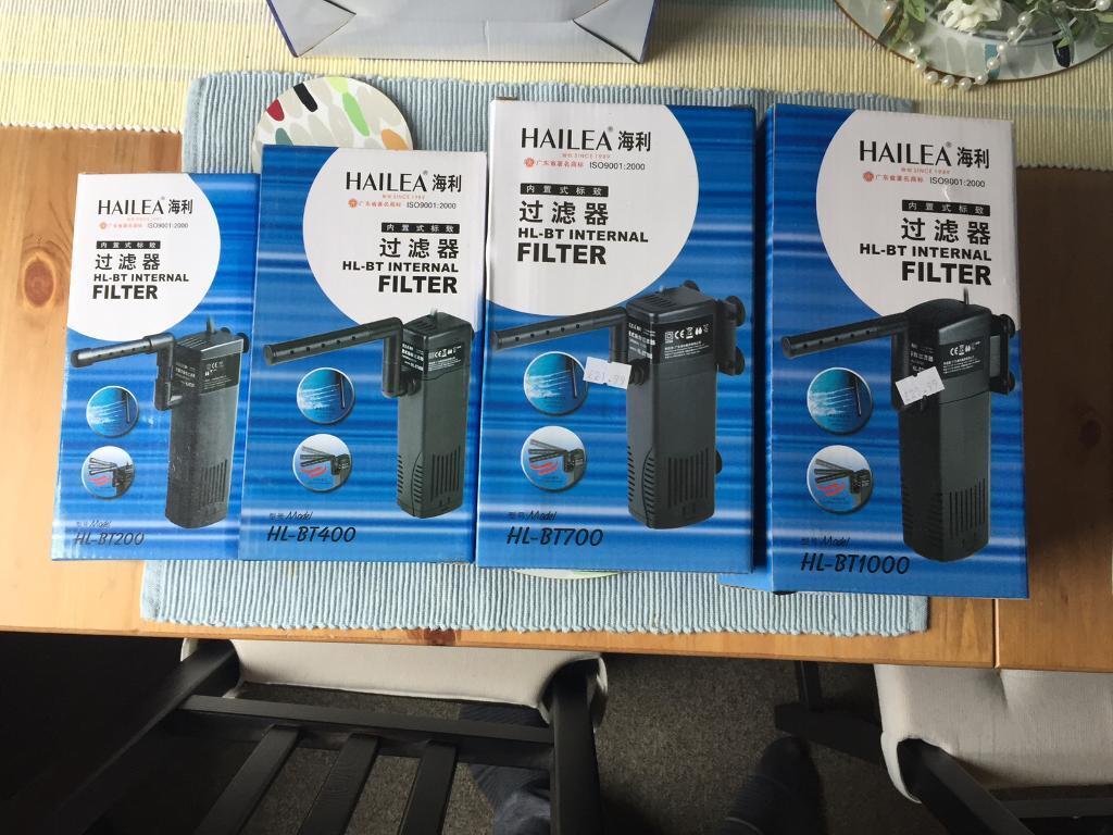 Brand new internal filters for tropical aquarium fish tank