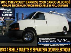 2016 Chevrolet Express 2500 CARGO ALLONGÉ RACK ECHELLE TABLETTE