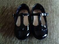 Next size 4 black patent shoes