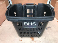 job lot only 40 left SHOPping Wheelie trolley / Basket with carry handle or pull out handle ex BHS