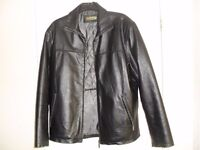 Mens leather jacket black 42 -44 inch chest