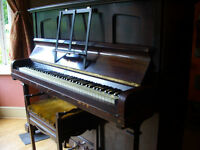 John Spencer & Co Overstrung Upright Piano in Full Working Order