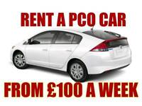 from £100 RENT HIRE A PCO CAR HONDA INSIGHT CIVIC HYBRID AUTO UBER READY TOYOTA PRIUS