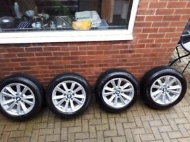 "Bmw 17"" genuine alloys wheels. Run flat tyres included."