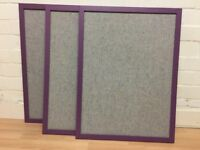 3 x Wood Framed Noticeboards - Pin Board - Very Stylish!