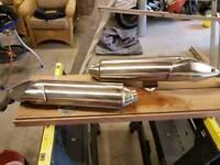 Pair of Honda cbf1000 exhausts