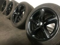 """4 Black 16"""" Alloy Wheels As New cost £900"""