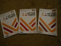 """Three """"Up the Tigers"""" Hull City programmes when in Premiership 2014"""