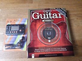 Simply guitar (learn to play) CD, & guitar tuner / metronome