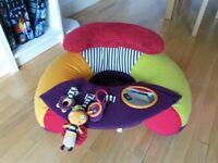 Mamas & Papas Tummy Time Pillow/Mat + Sit & Play Floor Seat