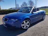 2003 (03) Audi A4 Cabriolet 2.4 V6 * 41k Miles + F/S/H + 12 Month MOT *