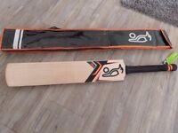 Brand new - Kookaburra Onyx 1250 SH medium weight cricket bat and bag