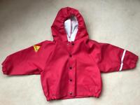 Tells Wetwear premium raincoat, size 80 (1-2yrs)