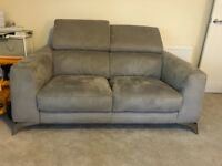 Flavio 2 and 3 seater fabric sofas (furniture village) 9 months old