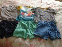 Boys short pj's, 3 pairs, size 9-10