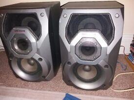 2 panasonic sterio subwoofer speakers 100w