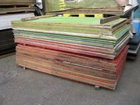 Second Hand Shuttering Ply 18mm 8 foot by 4 foot (£12.00 each)