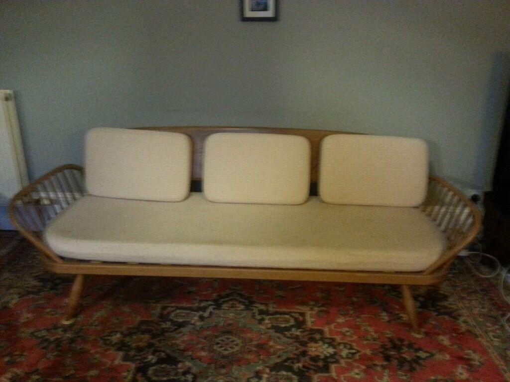 Original 1950s Vintage Retro Ercol Studio Couch Daybed