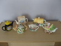 Ornamental Tea Pots - £25 for all six