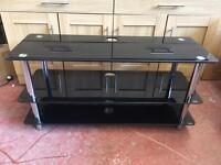 Black Glass Television Stand Large