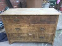 Large oak rustic cupboard/drawers
