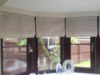 Taupe roman blinds