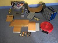 Huge Lot Of Tech Deck Fingerboards, Tony Hawk, Ramps, Box