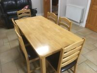 Kitchen Table & 6 Chairs - An absolute pre Christmas bargain!