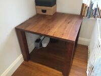 IKEA DJURSTA square oak table. Lovely solid look. Good condition. (new RRP £200)