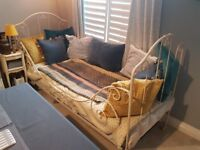 Beautiful French metal day bed for sale