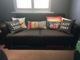 Black Bo Concept Reclining Sofa Bed (Melo)
