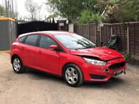 2016 66 FORD FOCUS 1.0 ECOBOOST 5 DOOR RED DAMAGED SALVAGE REPAIRABLE