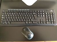 Wireless Logitech Keyboard and Mouse
